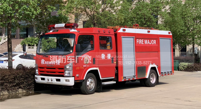 云南大理消防车用户:定购五十铃3.5吨水罐消防车