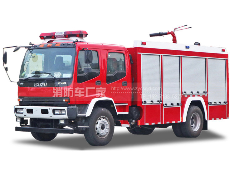 6吨五十铃FTR水罐消防车
