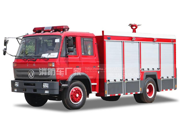 【东风牌】153双排座6吨水罐消防车