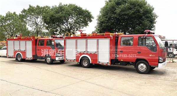 辽宁葫芦岛消防车用户:定购两台五十铃2.5吨水罐消防车