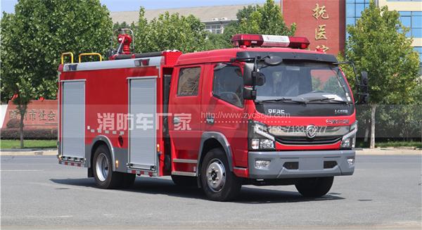 国六东风5吨水罐消防车配置、价格(图文详解)