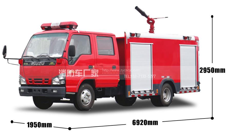 五十铃600P 3吨泡沫消防车