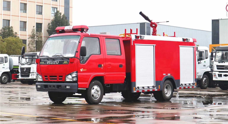 上海用户:订购国六五十铃3吨泡沫消防车