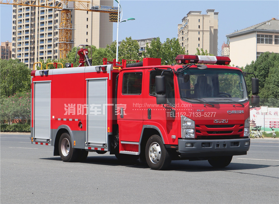 国六五十铃700P 3.5吨水罐消防车价格、参数、图片【详解】