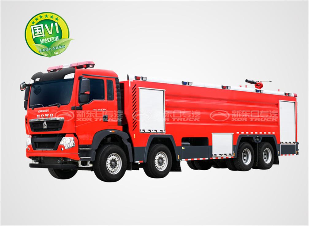 国六重汽24吨水罐消防车